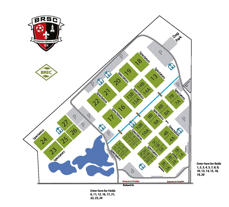 Burbank Soccer Complex Map