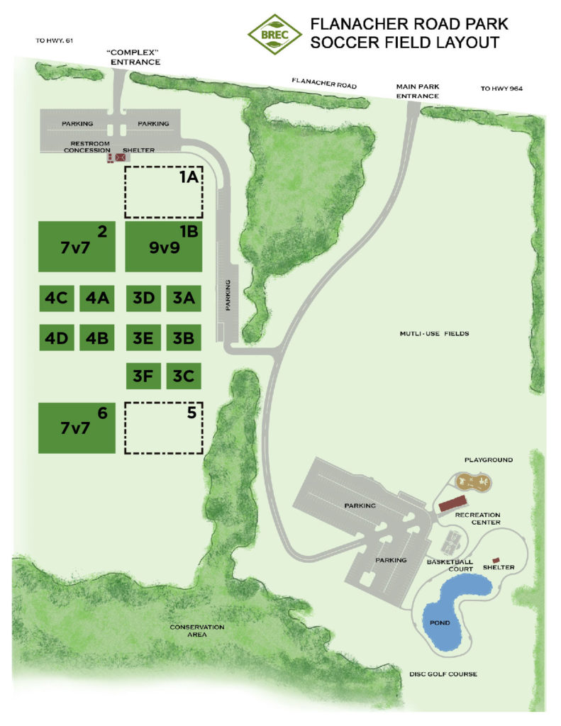 Flanacher Road Park Field Map