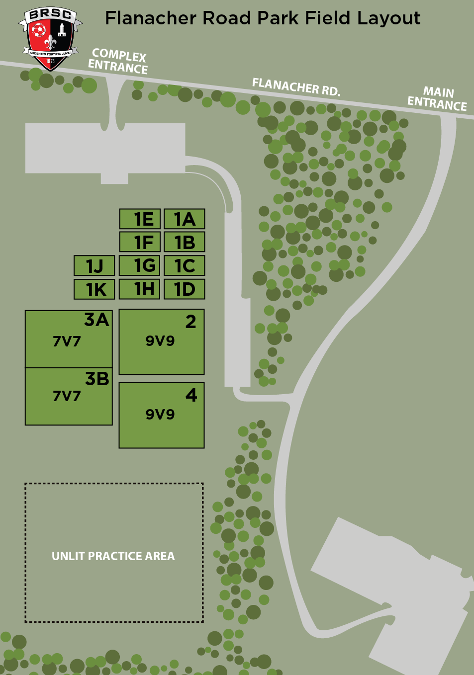 Flanacher Road Park Field Map