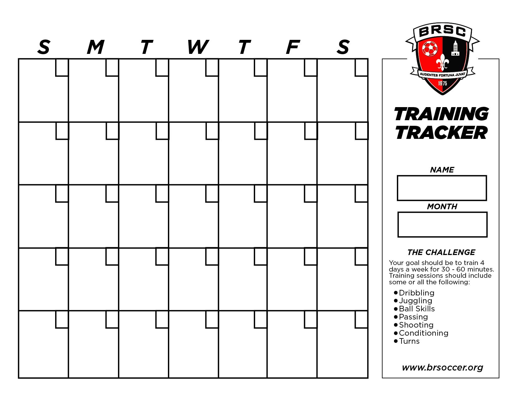 BRSC Training Tracker
