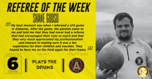 Referee of the Week Shane Godso